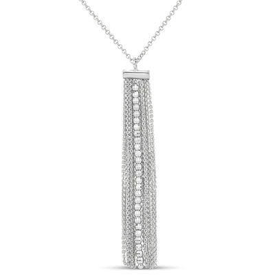 Made In Italy Womens Sterling Silver Pendant Necklace