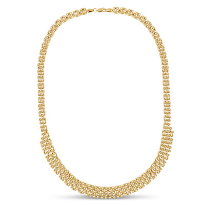 Made In Italy Womens 20 Inch 18K Gold Over Silver Link Necklace