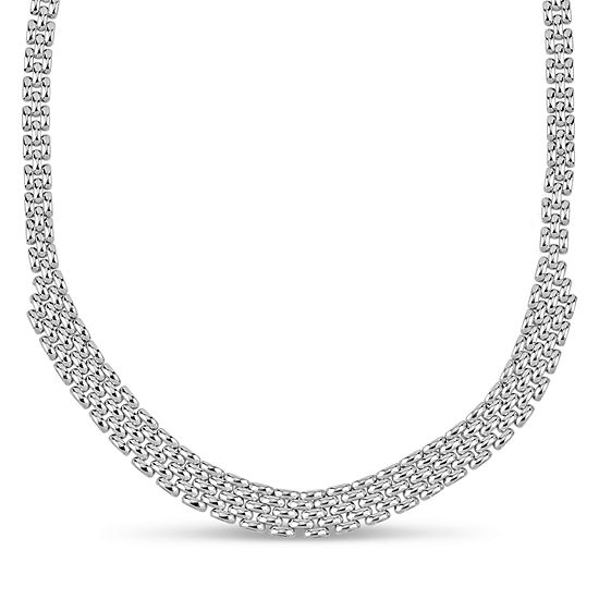 Made in Italy Womens 20 Inch Sterling Silver Link Necklace