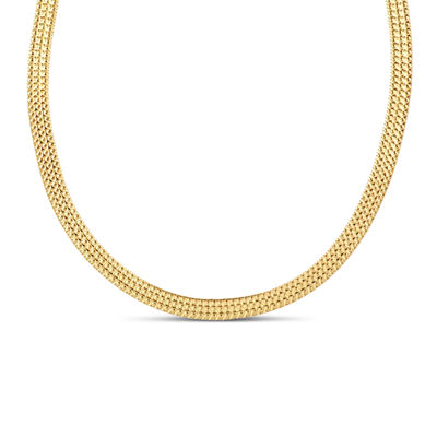Made In Italy 18K Gold Over Silver 18 Inch Chain Necklace