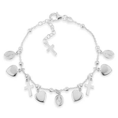 Made in Italy Sterling Silver Charm Bracelet