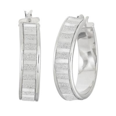 Sterling Silver 29.7mm Hoop Earrings