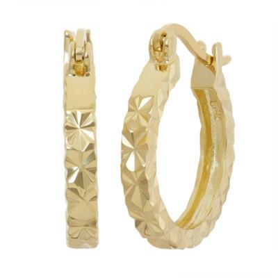 18K Gold Over Silver 20.3mm Hoop Earrings