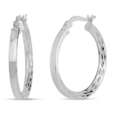 Sterling Silver 25.4mm Hoop Earrings