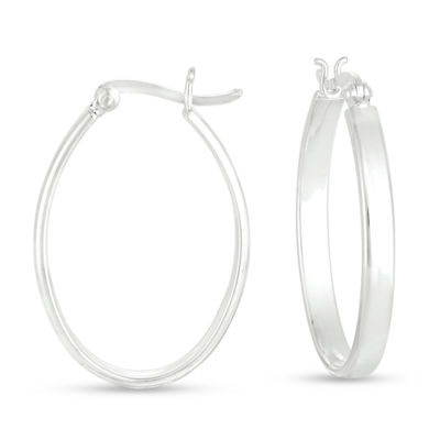 Sterling Silver 22.2mm Hoop Earrings