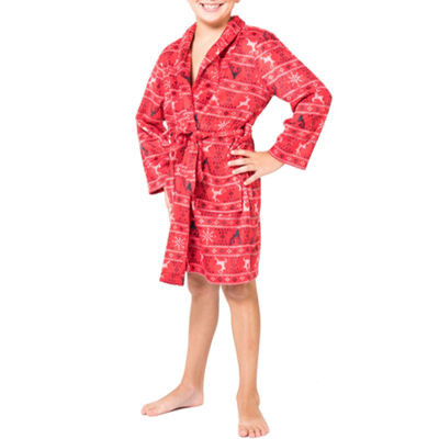 Red Fairisle Family Pajama Robe- Big Kid