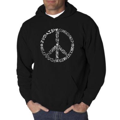 Los Angeles Pop Art Different Faiths Peace Sign Logo Hoodie