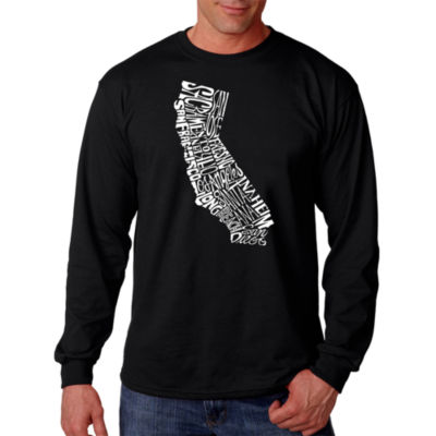 Los Angeles Pop Art California State Word Art LongSleeve T-Shirt