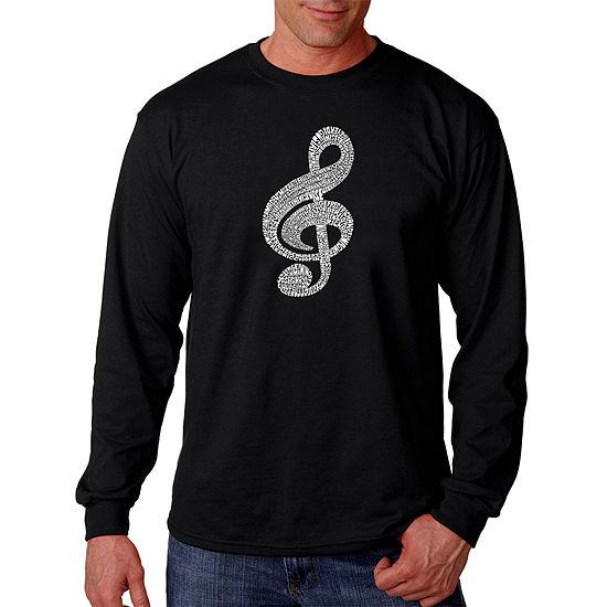 Los Angeles Pop Art Music Note Mens T-Shirt