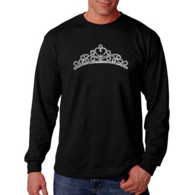 Los Angeles Pop Art Princess Tiara Word Art Long Sleeve T-Shirt