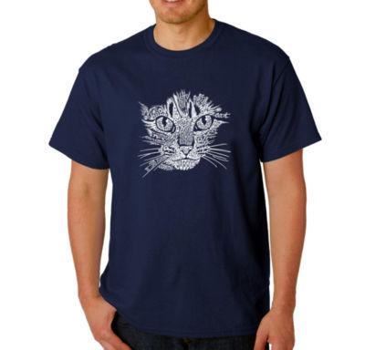 Los Angeles Pop Art Catface Logo Graphic Word ArtT-Shirt