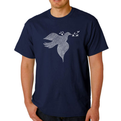 Los Angeles Pop Art Dove Logo Graphic T-Shirt