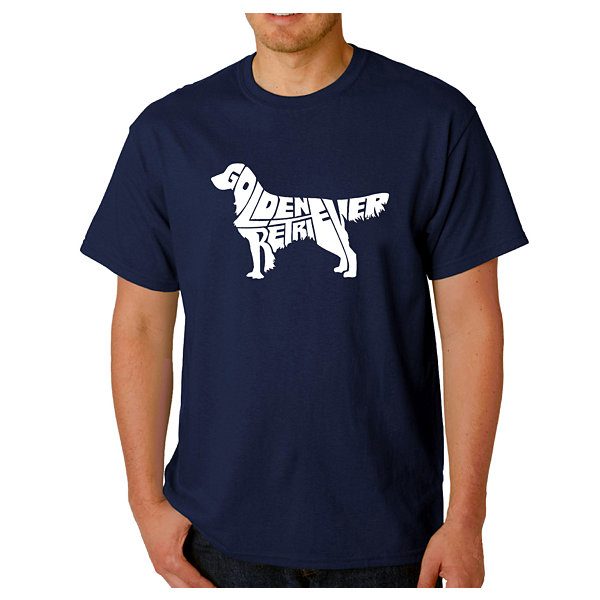 Los Angeles Pop Art Golden Retreiver Logo GraphicWord Art T-Shirt