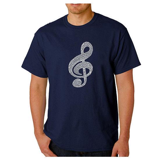 Los Angeles Pop Art Music Note Mens Graphic T-Shirt