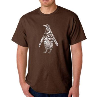Los Angeles Pop Art Penguin Logo Graphic Word ArtT-Shirt