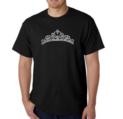 Los Angeles Pop Art Princess Tiara Logo Graphic Word Art T-Shirt