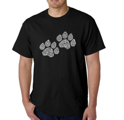 Los Angeles Pop Art Woof Paw Prints Logo Graphic T-Shirt