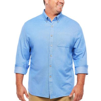 Van Heusen Long Sleeve Button Front Shirt - Big and Tall