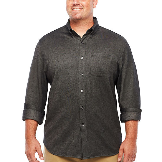 d1d1b0f1457 Van Heusen Long Sleeve Button-Front Shirt-Big and Tall - JCPenney