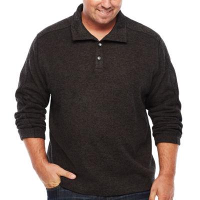 Van Heusen Mock Neck Long Sleeve Layered Sweaters Big and Tall
