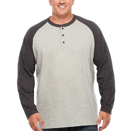 05f7d92b2fa23 The Foundry Big   Tall Supply Co. Mens Long Sleeve Henley Shirt-Big and  Tall - JCPenney