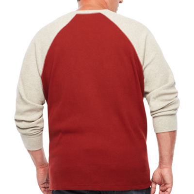 The Foundry Big & Tall Supply Co. Mens Crew Neck Long Sleeve T-Shirt-Big and Tall