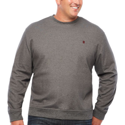 IZOD Advantage Performance Solid Crewneck Fleece Long Sleeve Sweatshirt Big and Tall