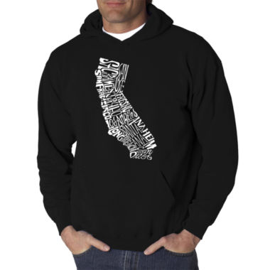 Los Angeles Pop Art California State Logo Hoodie -Men's Big and Tall