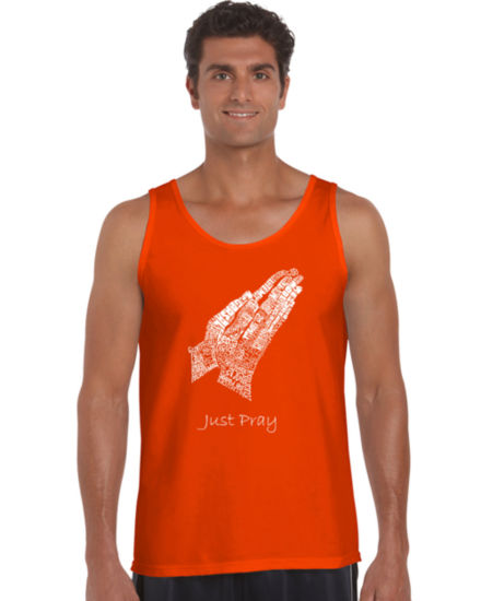 Los Angeles Pop Art Prayer Hands Tank Top Big and Tall