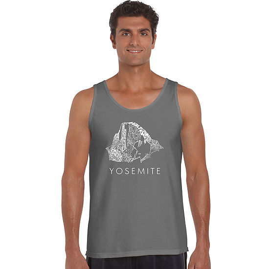 Los Angeles Pop Art Yosemite Mens Tank Top Big and Tall