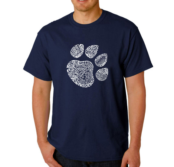 Los Angeles Pop Art Catpaw Logo Graphic T-Shirt-Big and Tall