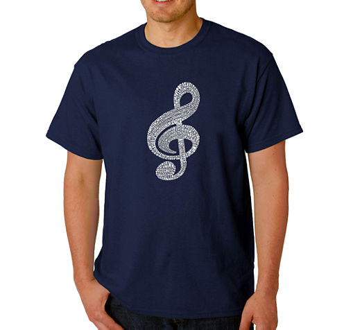 Los Angeles Pop Art Music Note Logo Graphic T-Shirt-Big and Tall