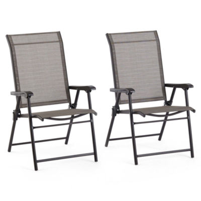 Outdoor Oasis Melbourne 2-pc. Sling Folding Conversational Chair