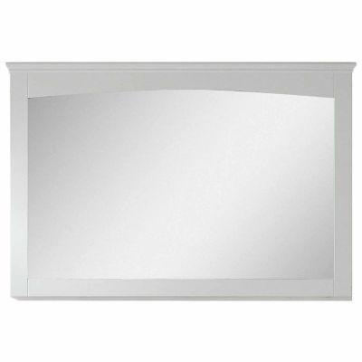 American Imaginations 48-in. W X 31.5-in. H ModernPlywood-Veneer Wood Mirror In White