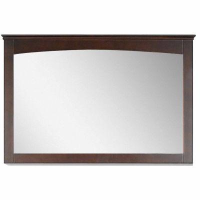 American Imaginations 48-in. W X 31.5-in. H Modern Plywood-Veneer Wood Mirror In Walnut