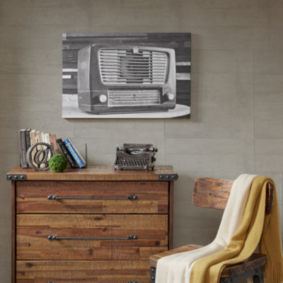 Ink + Ivy Vintage Radio Gel Coated Canvas