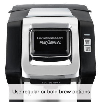 Hamilton Beach® FlexBrew® Single-Serve Plus Coffee Maker in Black