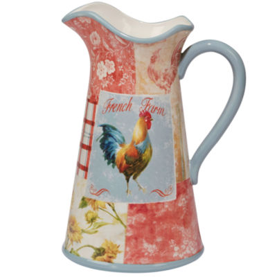 Certified International Farm House Rooster Serving Pitcher