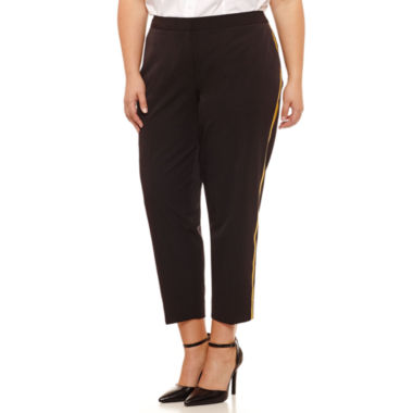 Worthington Straight Fit Ankle Pants-Plus