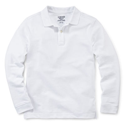 IZOD® Long-Sleeve Stretch Piqué Polo - Preschool Boys 4-7