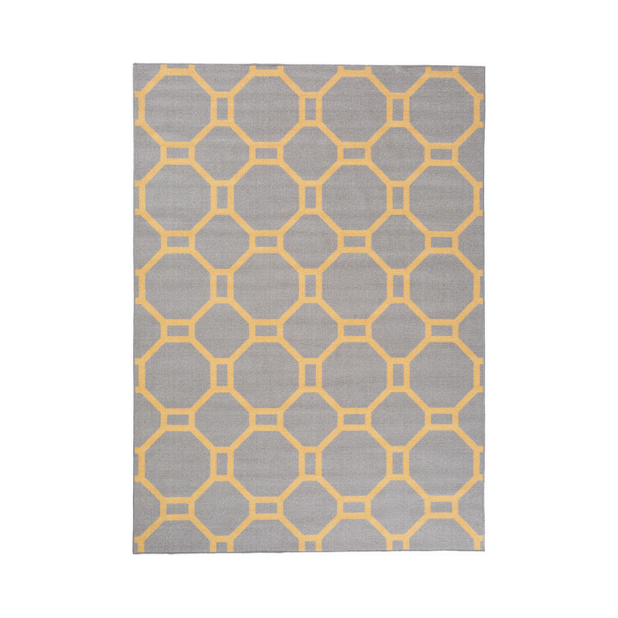 World Rug Gallery Contemporary Geometric Non-Skid Rectangular Rugs