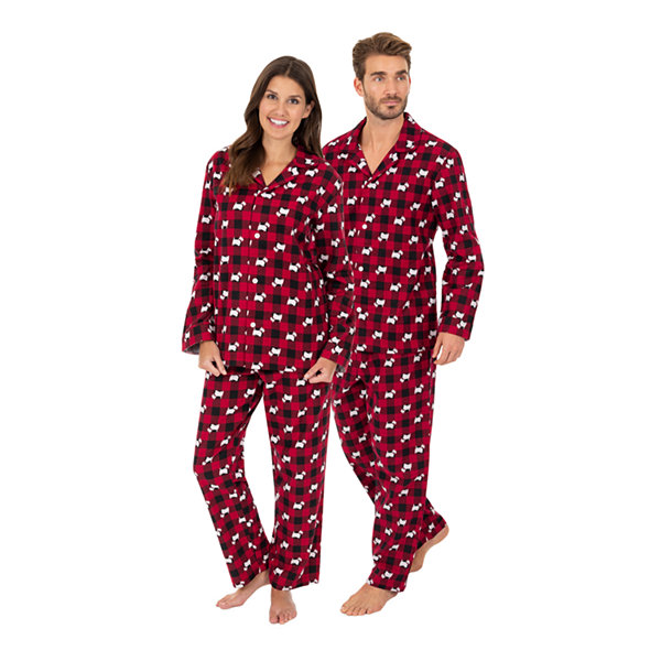 Wembley Scottie Dogs Couples Mens 2-pc. Pant Pajama Set