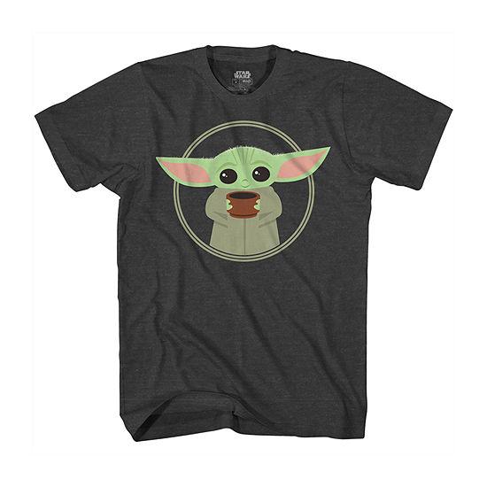 Disney Mandalorian Little & Big Boys Crew Neck Star Wars Short Sleeve Graphic T-Shirt