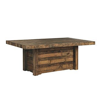 Signature Design By Ashley Tupelo Collection Rectangular Wood Top Dining Table