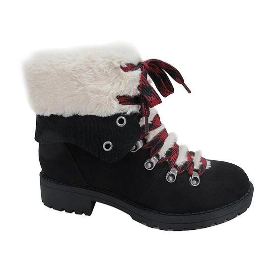 Pop Womens Kraft Hiking Boots Block Heel