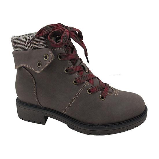 Pop Womens Tania Hiking Boots Flat Heel