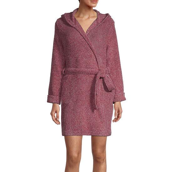 Rene Rofe Womens Fleece Robe Long Sleeve Knee Length