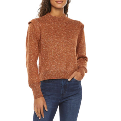 a.n.a Womens Scallop Neck Long Sleeve Pullover Sweater
