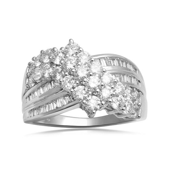 LIMITED QUANTITIES  2 CT. T.W. Diamond 10K White Gold Fashion Ring