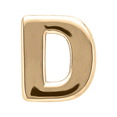 "Teeny Tiny® 10K Yellow Gold Initial ""D"" Single Stud Earring"